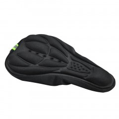Cycling Bicycle Silicone Non-slip Saddle Seat Cover Cushion Soft Pad black default