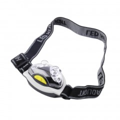 Black&white Mini LED Head Lamp 3-Mode Headlight Torch Light For Hiking Cycling Fishing as picture default