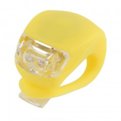 LED Bicycle Bike Cycling Silicone Head Front Rear Wheel Safety Light Lamp