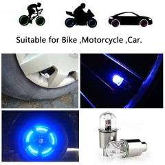 1 Pair LED Cycling Bike Bicycle Neon Car Wheel Tire Valve Caps Wheel Lights blue default