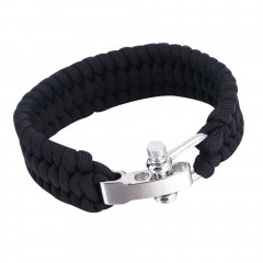 Outdoor Survival Paracord Bracelet Camping Self-rescue Parachute Rope Clasp