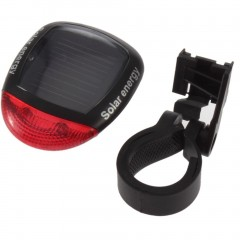 Solar Power Bike Bicycle LED Cycling Tail Rear Red Light Lamp Taillight w/ Clamp