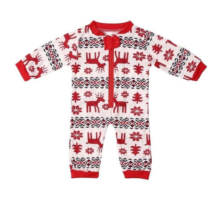 593b5b038 Christmas Family Pajamas Suit Cute Deer Printing Sleepwear Suit For ...