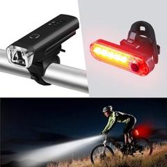Smart Road Bike Front Light USB Induction Flashlight  MTB Bike Rear LED Lights Kit black Front
