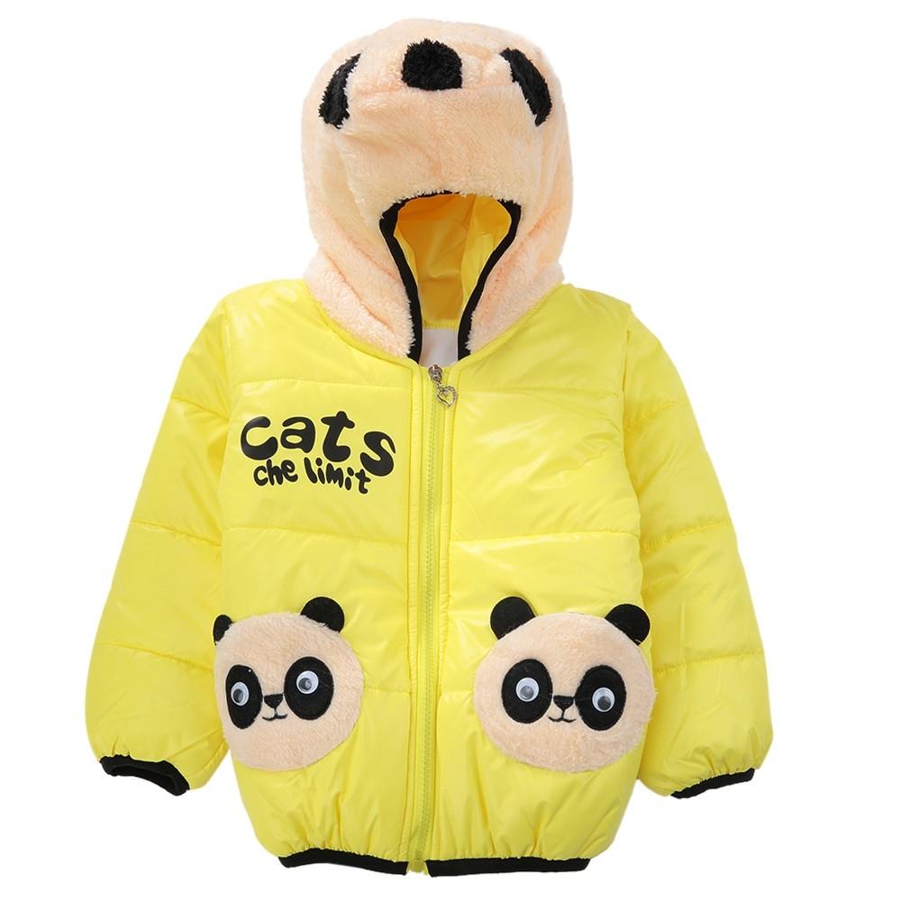 407cd034d Kilimall  Cute Panda Hat Long Sleeve Printed Zippered Kids P YELLOW ...