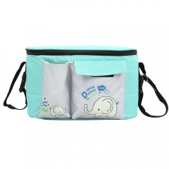 Multifunctional Baby Stroller Bag Cross-body Pouch GREEN