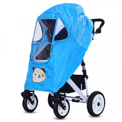 Baby Stroller Pushchair Pram Accessories Rain-proo BUTTERFLY BLUE