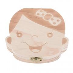Baby Organizer Dental Teeth Box Milk Tooth Wooden  WOOD