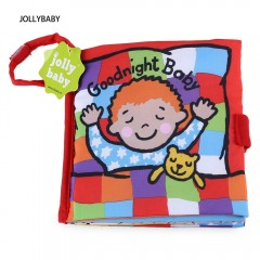 JOLLYBABY 10 Pages Funny Educational Cloth Book GOODNIGHT