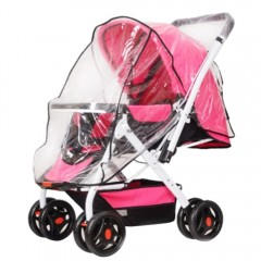 Baby Stroller Rain-proof Wind-proof Cover for Outd TRANSPARENT