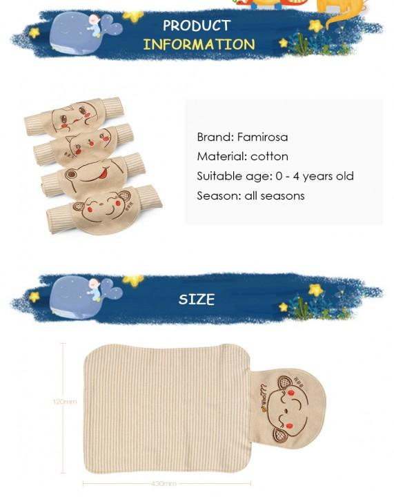 Famirosa Baby Back Sweat Towel Children Kids Wipes Wicking Cotton Washcloth