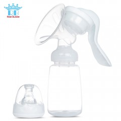 RealBubee Manual Breast Pump BPA Free Baby Breastf WHITE