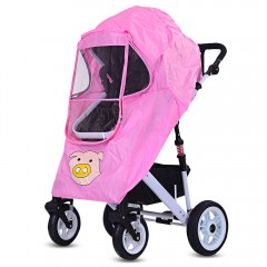 Baby Stroller Pushchair Pram Accessories Rain-proo HOT PINK
