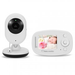 2.4G Wireless Digital Video Baby Monitor with Nigh WHITE UK PLUG