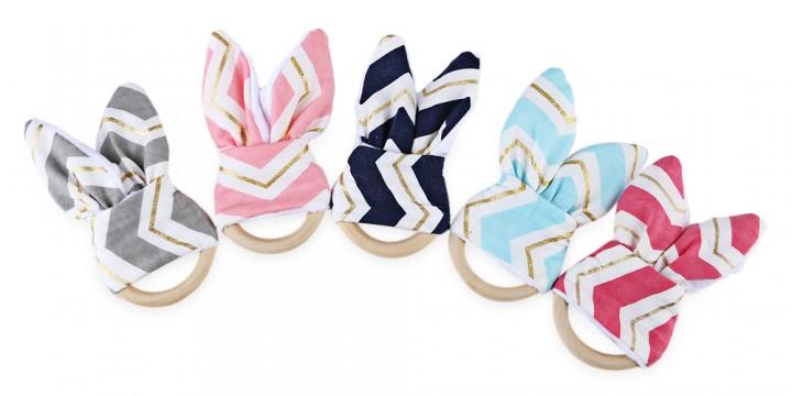 1pc Sweet Babies Wood Teeth Wing Ring