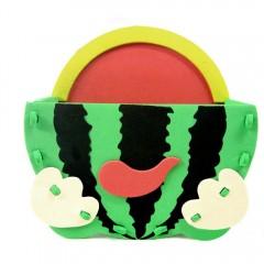 Kid Stereoscopic Sticker PenContainer  Handmade E GREEN WATERMELEN