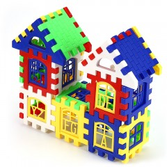 Children DIY House Building Blocks Construction Br COLORMIX