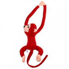 Long Arm Hanging Monkey Plush Toy Stuffed Animal D DARK RED