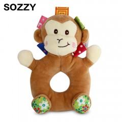 Sozzy Cartoon Animal Baby Handbell Toy COLORMIX MONKEY
