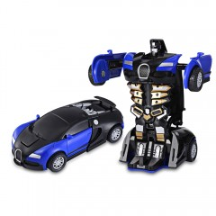 One Step Impact Deformation Car Mini Transformatio COBALT BLUE