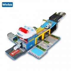 WinTek E5018 Assembled Police Station Alloy Vehicl DODGER BLUE