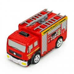 Creative ABS 1:58 Mini RC Fire Engine with Remote  RED WATER-TANK