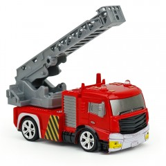 Creative ABS 1:58 Mini RC Fire Engine with Remote  RED AERIAL LADDER