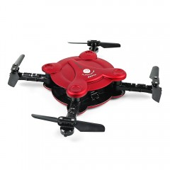 FQ777 FQ17W Foldable Mini RC Pocket Drone RTF WiFi RED