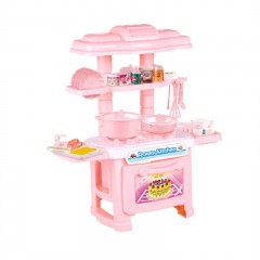 Cooking Utensils Kitchen Toys Suit Girl Simulation PINK