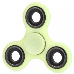 Luminous Fidget Spinner with Iron Bar ABS Plastic  YELLOW