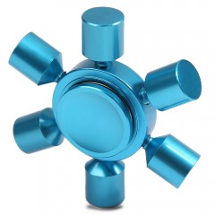 Stress Relief Toy Rudder Fidget Metal Spinner BLUE