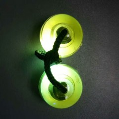 Fidget Finger Yoyo with Color Changing LED Lights YELLOW