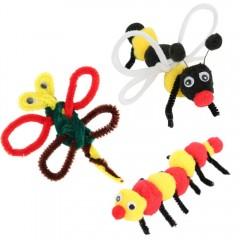 100pcs Kids Plush DIY Handmade Toy COLORMIX
