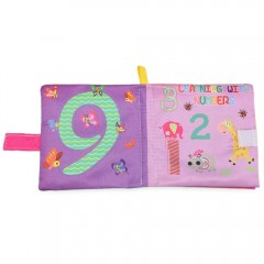 Baby English Learning Soft Cloth Book Early Develo LIGHT PURPLE