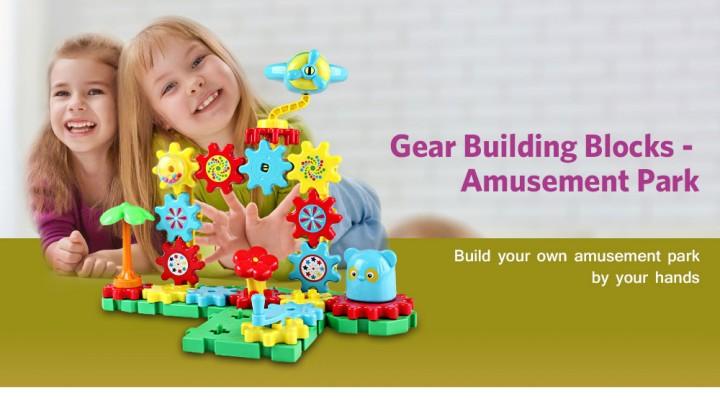 YOUZHI TS5103A - 2 54PCS Assembled Gear Building Blocks Amusement Park