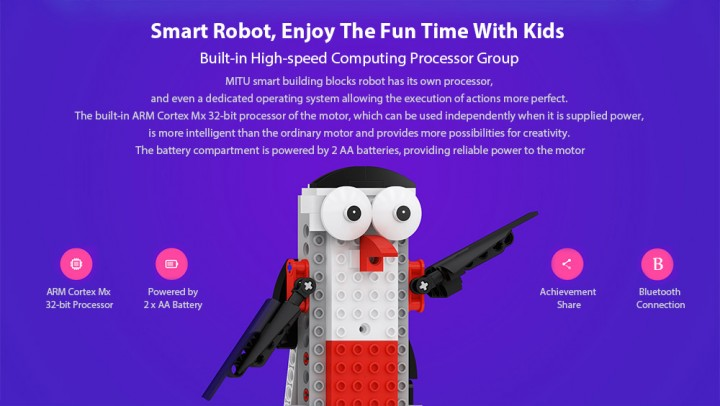 MITU Smart Building Blocks Robot APP Control / Programming / Variety Models