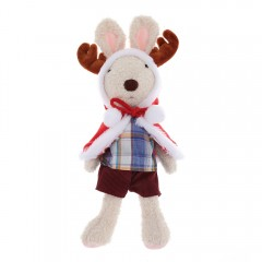 Stuffed Elk Plush Doll Toy Christmas Gift WHITE 45CM
