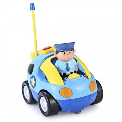Cartoon Police / Racing Car Radio Remote Control M LAKE BLUE