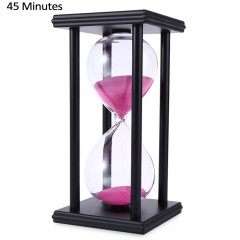Hourglass Sand Timer 45 Minutes Wood Sand Timer fo BLACK PINK