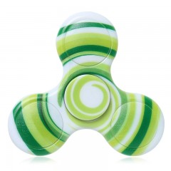 Anti-stress Toy Plastic Patterned Fidget Spinner GREEN