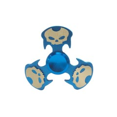 Cool Skull Focus Toy Metal Hand Fidget Spinner BLUE