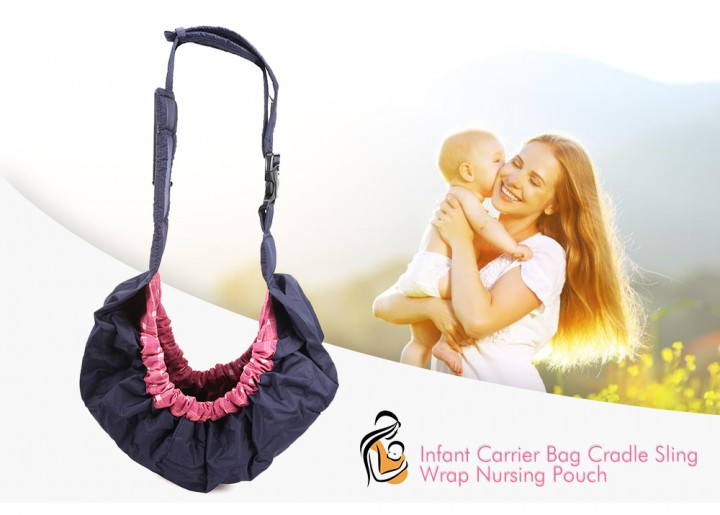 Infant Newborn Baby Carrier Bag Cradle Sling Wrap Nursing Pouch