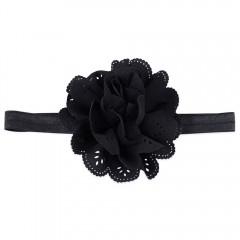 Sweet Child Baby Flower Shape Hollow Design Elasti BLACK