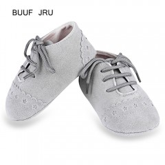 BUUF JRU Casual Star Pattern Soft Sole Skid-proof  LIGHT GRAY 13CM