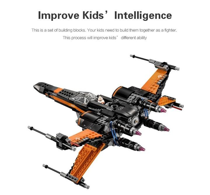 DIY Building Blocks Fighter Aircraft Model Intelligence Toy Gift