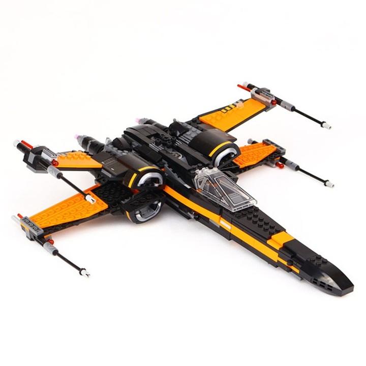 DIY Building Blocks Fighter Aircraft Model Intelligence Toy Gift  MULTI