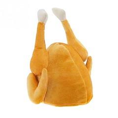 Plush Hat Novelty Christmas Turkey for Adults Women Men Thanksgiving ORANGE GOLD