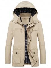 Casual Flap Pocket Slim Coat BEIGE S