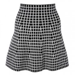 Stylish Plaid Slimming High-Waisted Skirt For Wome BLACK ONE SIZE(FIT SIZE XS TO M)