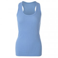 Simple Design Scoop Collar Solid Color Bodycon Rac BLUE ONE SIZE(FIT SIZE XS TO M)